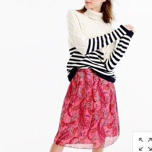 J. Crew paisley pink skirt